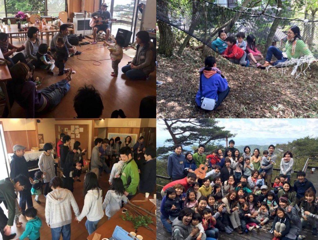自然いっぱい 六甲山の山頂でasobi基地