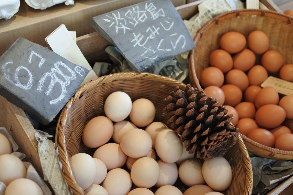 北坂養鶏場の直売所